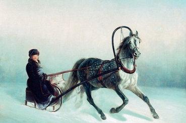 Русская лошадь в санях