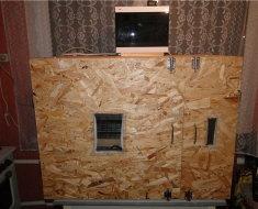 Пример самодельного фанерного инкубатора с автоматикой