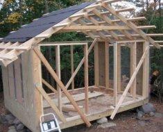 Каркас деревянного строения