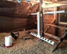 Кормушка-поильник для кур из пластиковой трубы