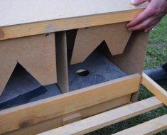 Пример самодельного гнезда с двойным дном