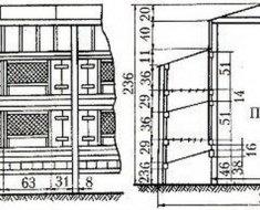Схема конструкции шедов