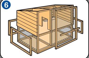Шаг 6 при строительстве кролятника