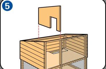 Шаг 5 при строительстве кролятника