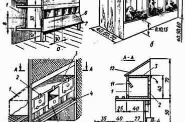 Чертеж конструкции дома для домашних кур и цыплят