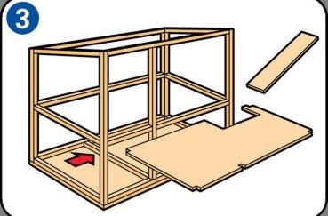 Шаг 3 при строительстве кролятника
