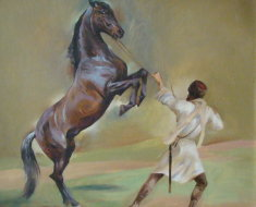 Изображение кабардинского коня