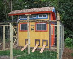 Красочный дом для кур