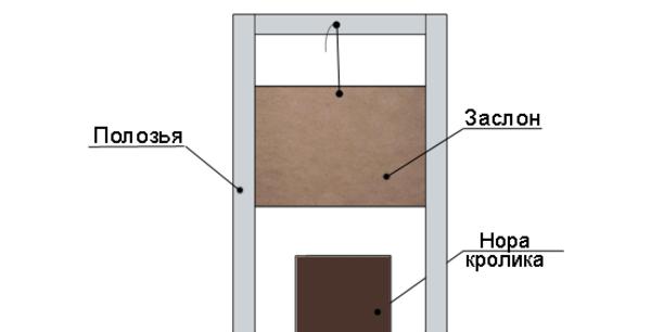 Схема норы с заслонкой