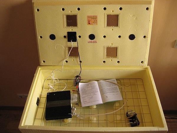 Инкубатор «Золушка» внутреннее устройство