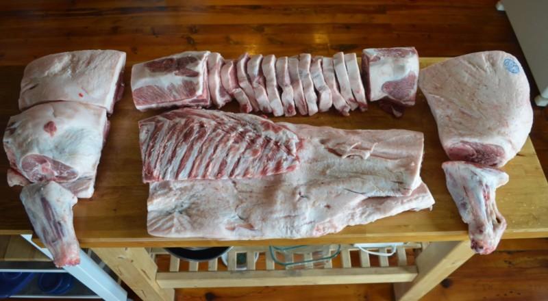 Разделка свиной туши