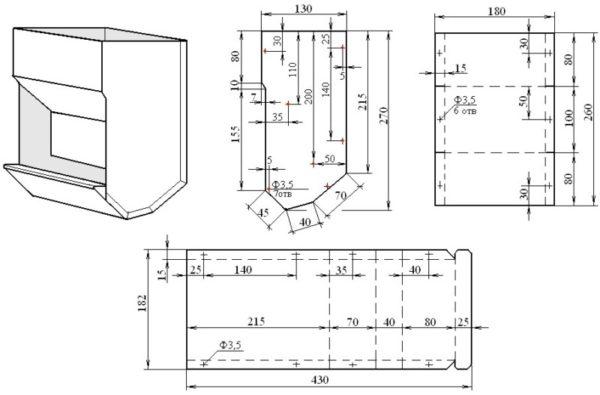 Схема и размеры бункерной емкости