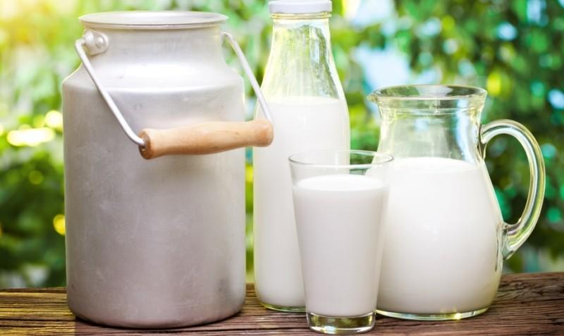 Различные емкости с молоком