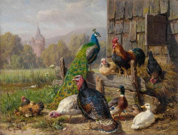 Картина «Птичий двор»