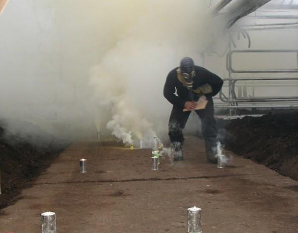 Окуривание дымовыми шашками