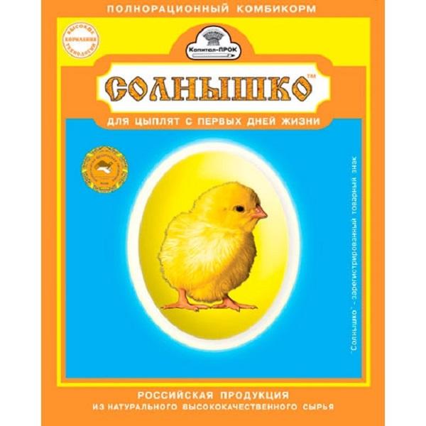 Этикетка комбикорма для цыплят Солнышко